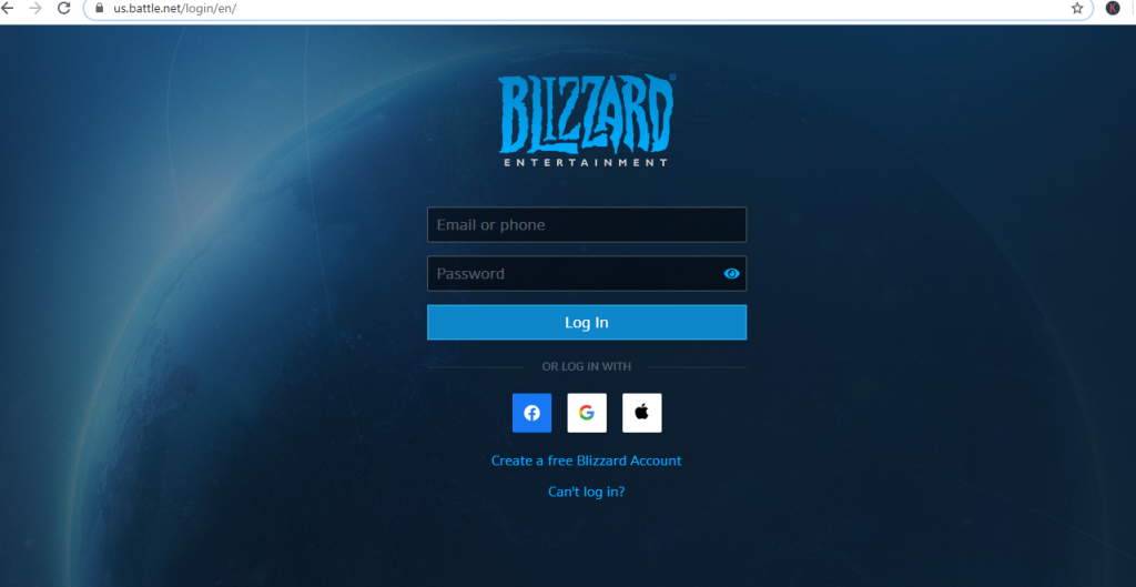Login to Battle Net Account-How to Cancel WoW Subscription