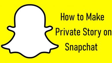 Private Story on Snapchat