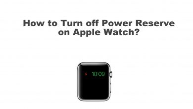 Reserve power on Apple Watch