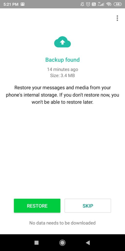 Retrieve Deleted WhatsApp Messages