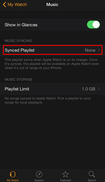 Sunced playlist - How to Listen to Music on Apple Watch without iPhone