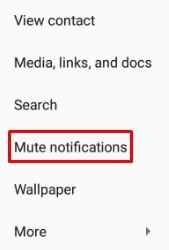 Mute notification
