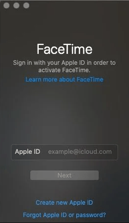 Apple Id login - How to Use FaceTime on Mac