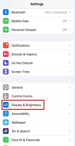 Open Setting on iPhone