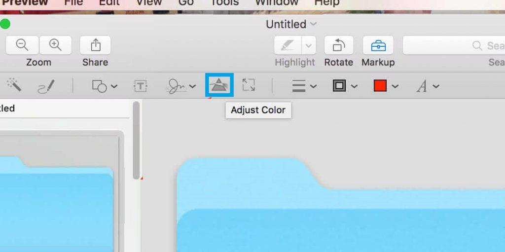 Select Adjust Color-How to Change Folder Color on Mac