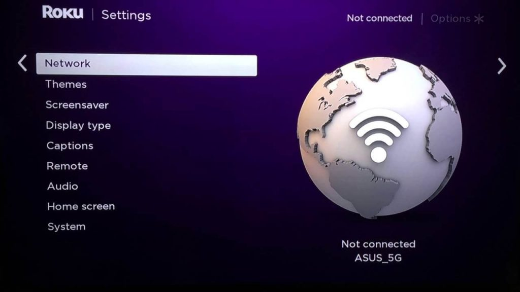 Select Network--Roku Won't Connect to Wireless internet Network