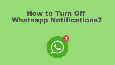 Turn off Whatsapp notification