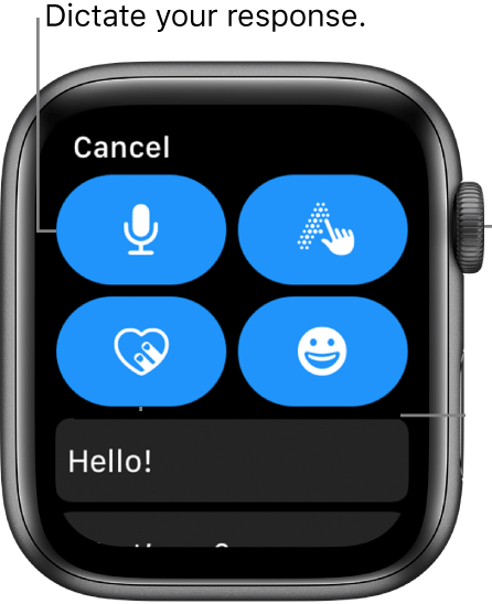 Use Microphone to Dictate Messages - How to Text on Apple Watch