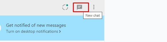 Tap on New Chat option