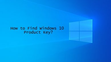 Find Windows 10 Product Key