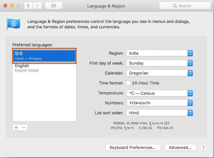 Language added - How to Change Language on Mac
