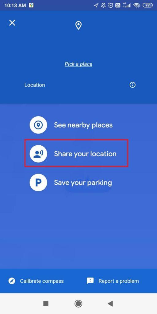 Add Location on WhatsApp Status