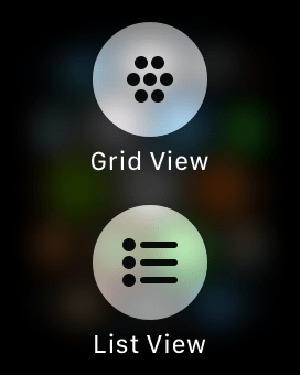 Grid and List View - Change App Layout on Apple Watch
