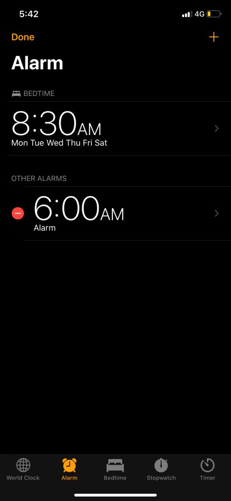 Choose the alarm