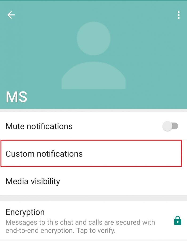 Select Custom Notifications