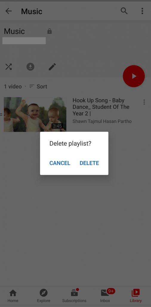 Delete YouTube Playlist