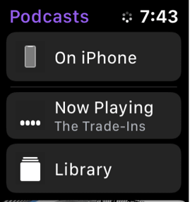 Podcast on Apple Watch