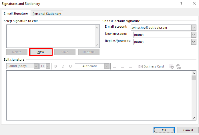 New - How To Change Signature On Outlook