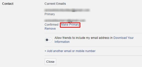Make primary