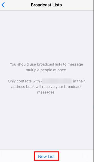 New list - How To Broadcast On WhatsApp