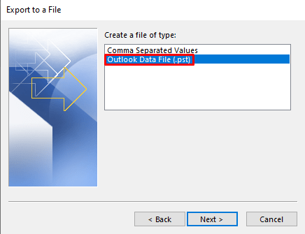 Outlook data file (.pst) - How To Backup Emails on Outlook