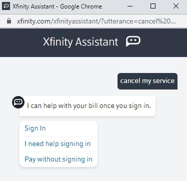 cancel my service