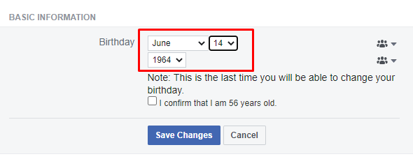 Change birthday - How To Change Birthday Date On Facebook Profile