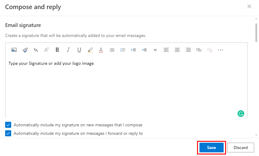 save - How To Change Signature On Outlook