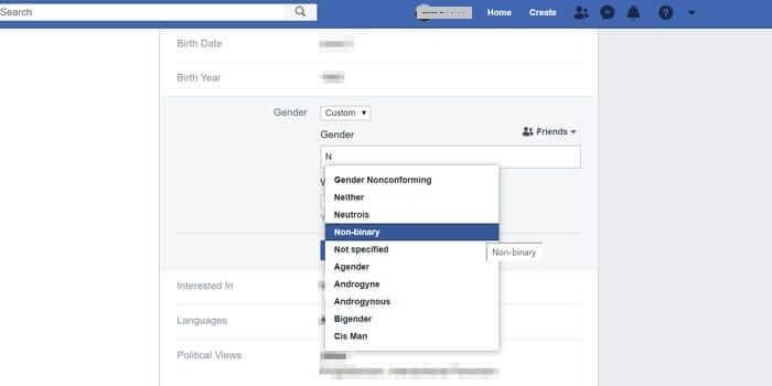 Change Gender on Facebook