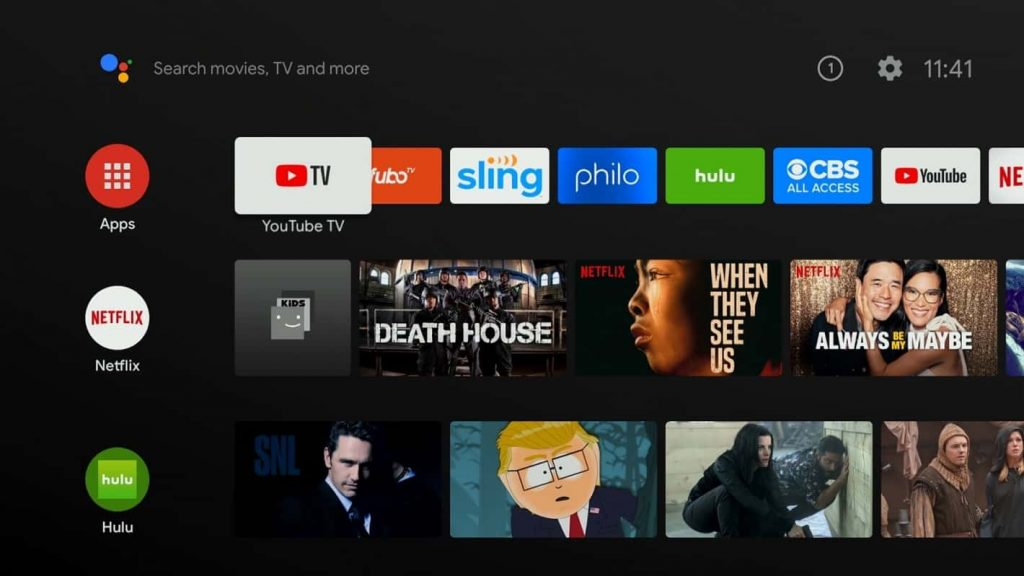 Select Hulu to Install on Element Android Smart TV