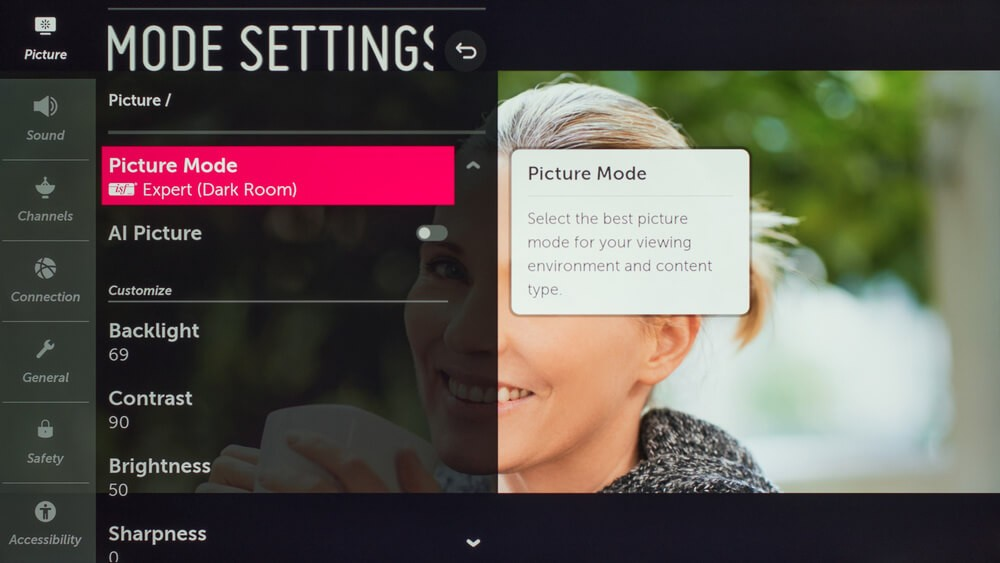Select Picture Mode