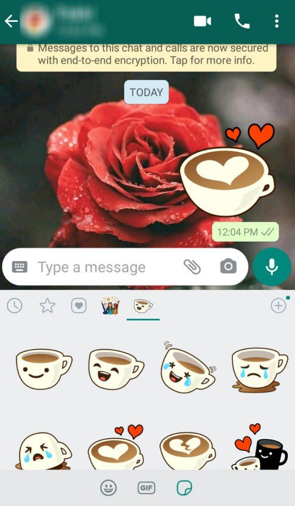 Send Stickers in Whatsapp