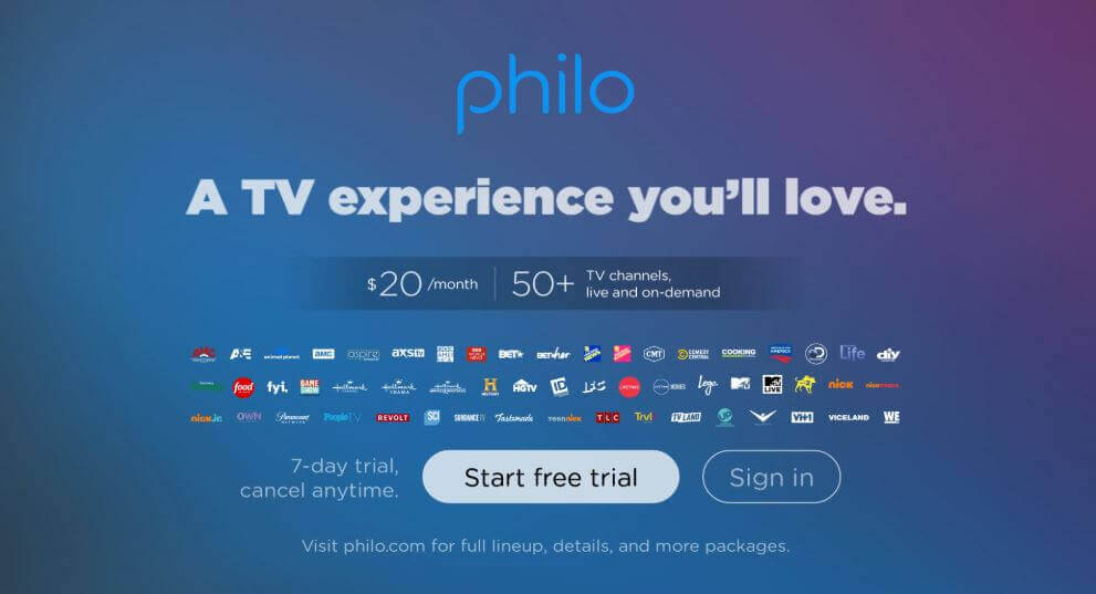 Sign In to Philo TV