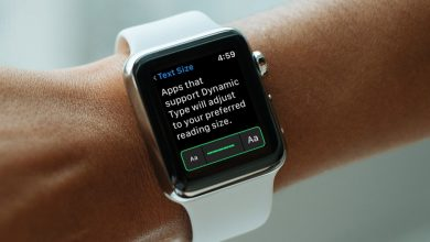 Text on Apple Watch