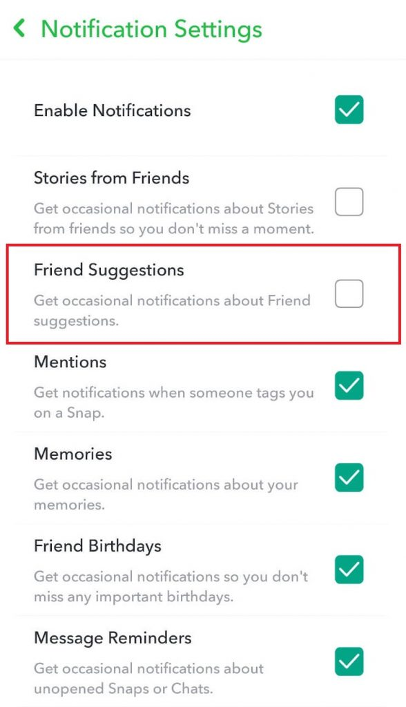Turn Off Quick Add on Snapchat