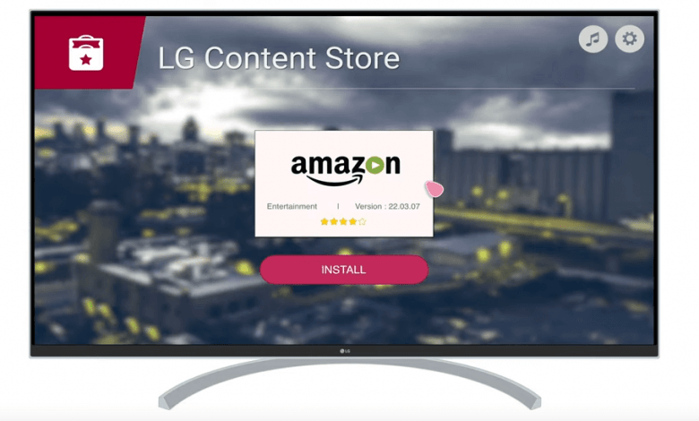 Amazon Prime on LG Smart TV