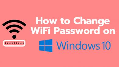 how to change wifi password on windows 10