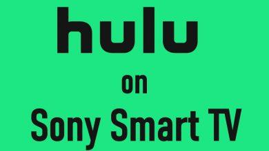 Hulu on Sony Smart TV