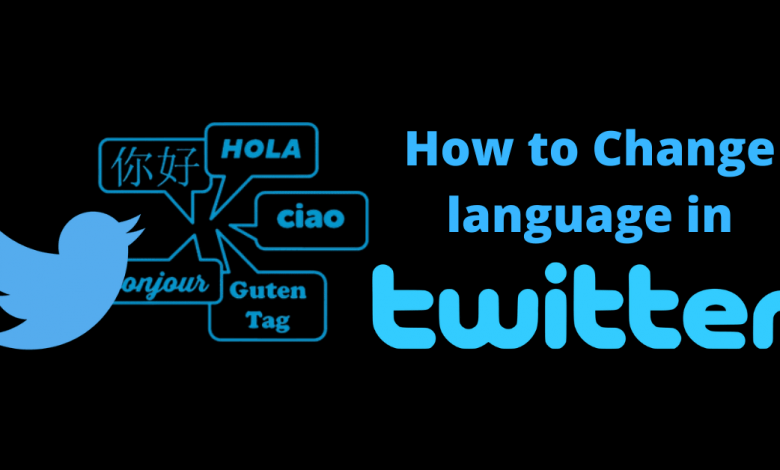 How To Change Twitter Language