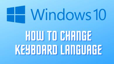 Change Keyboard Language Windows 10