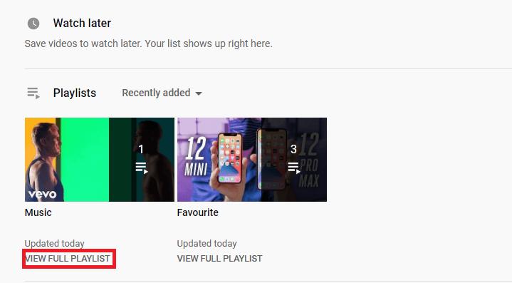 view full playlist
