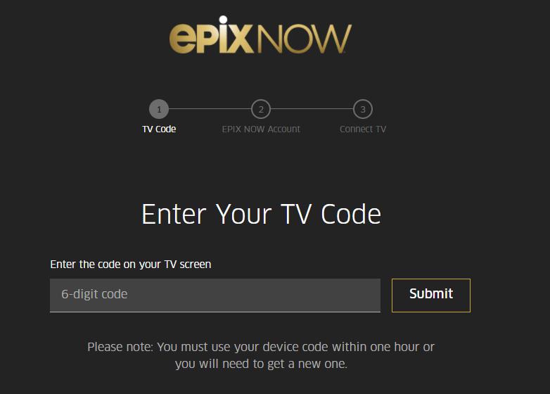Activate Epix on Apple TV