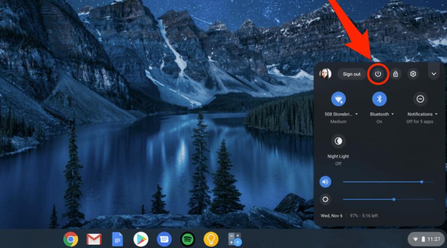 Force Reboot Chromebook