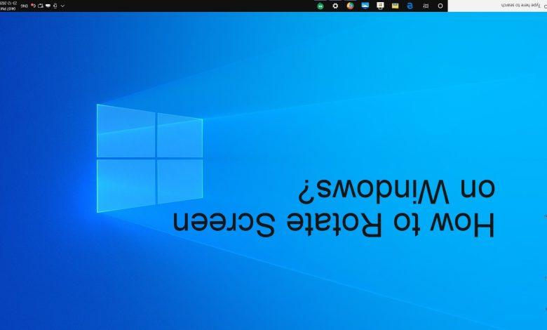 How to Rotate Screen on Windows