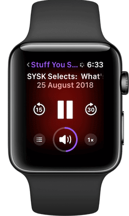 Podcasts on Apple Watch
