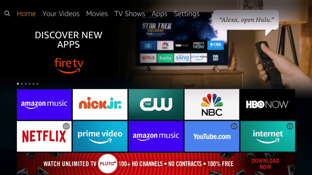 fire tv home page