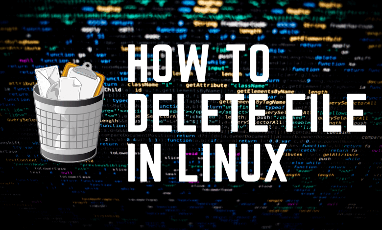 How to delete a file in Linux?