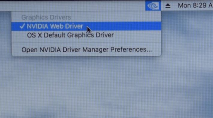 nvidia web driver