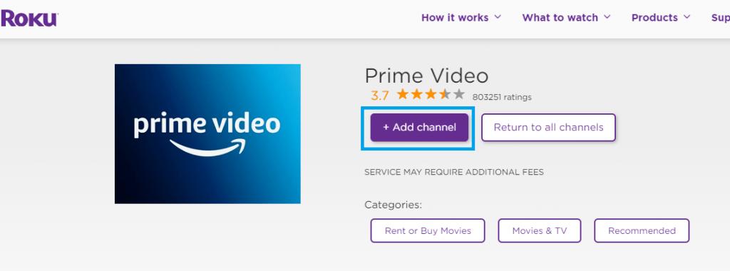 Add Amazon Prime Video