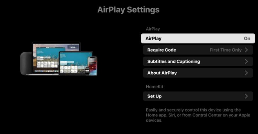 Select AirPlay